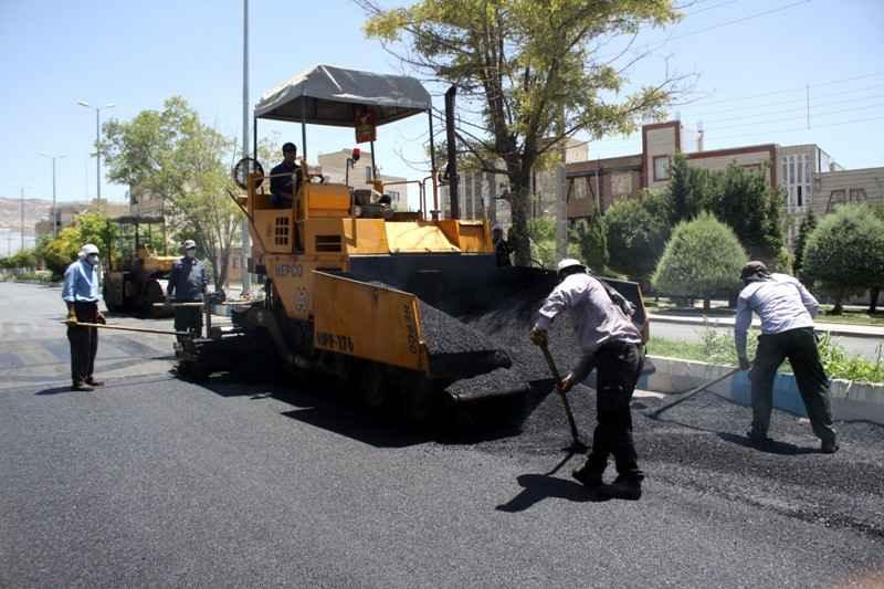 18 هزار مترمربع از معابر عمومی مهران آسفالت شد